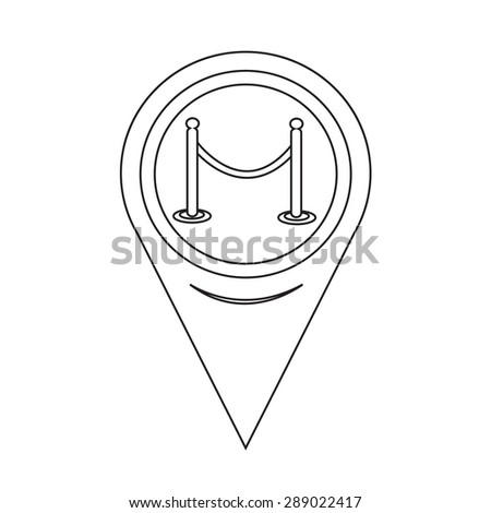 Map Pointer barricade icon - stock vector