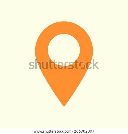 Map pointer icon. GPS location symbol. Flat design style. Vektor EPS 10. - stock vector