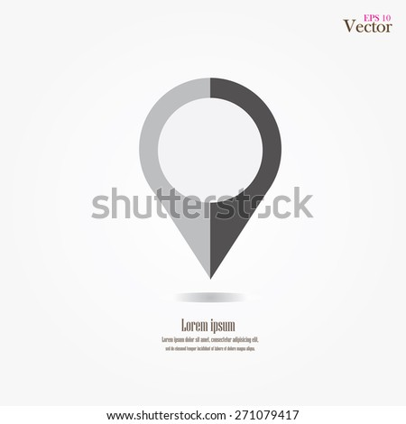 map pointer.map pointer sign.vector illustration.    - stock vector