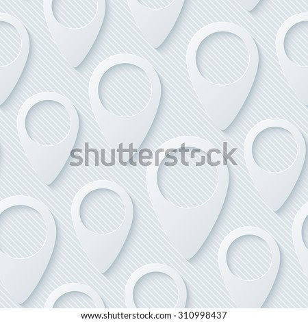 Map pointers walpaper. 3d seamless background. Vector EPS10. - stock vector