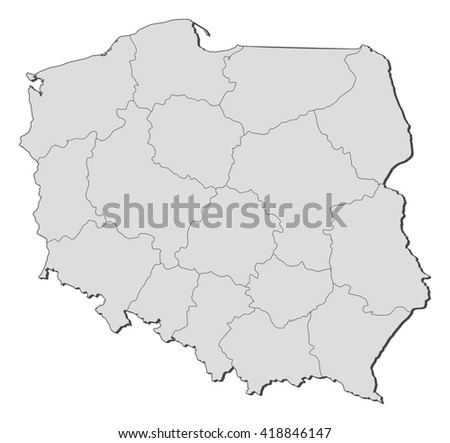 Map - Poland - stock vector