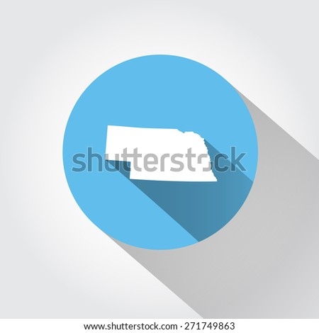 Map state of Nebraska  - stock vector