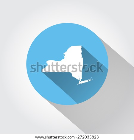 Map state of New York - stock vector