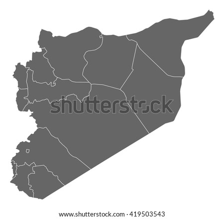 Map - Syria - stock vector