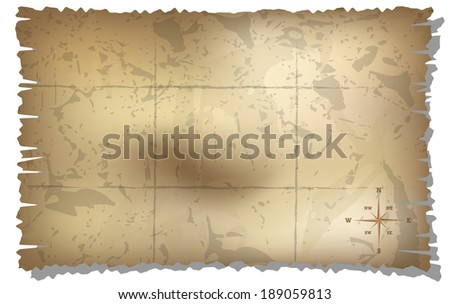 map with rose of wind background. gradient mash - stock vector