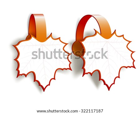 Maple Leaves advertising wobblers isolated on white background - stock vector