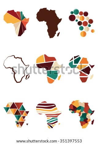 Maps of Africa - stock vector