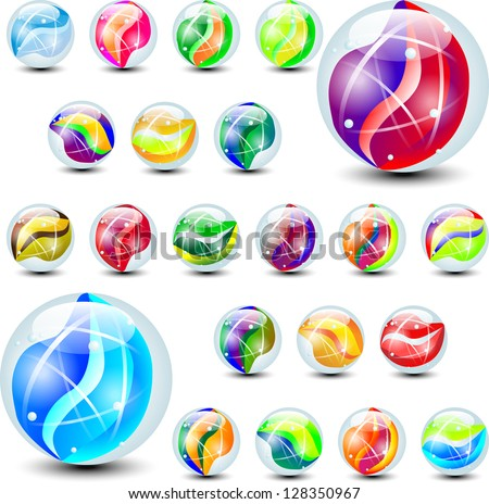 marbles color - stock vector