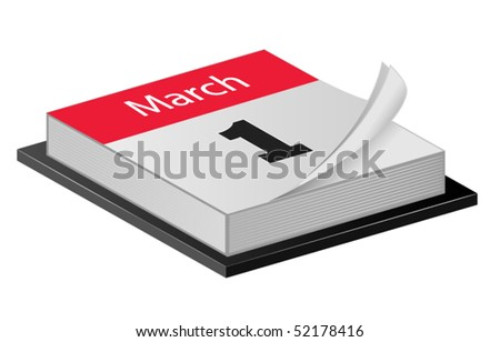 March Calender - stock vector
