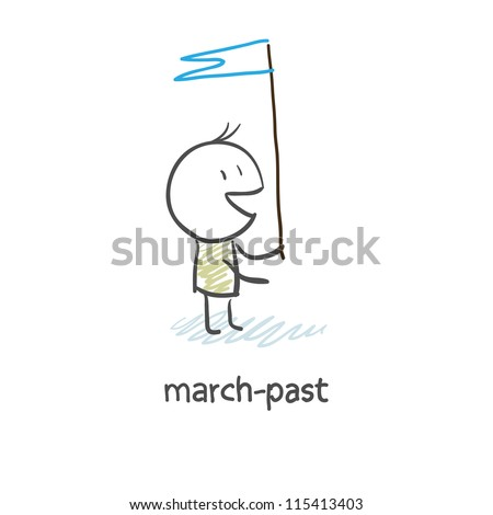 march-past - stock vector