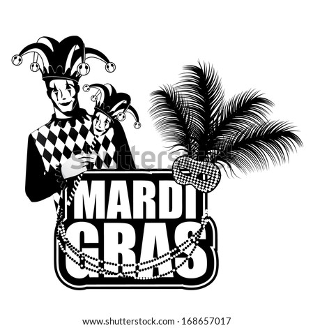 Mardi Gras design element. EPS 10 vector, grouped for easy editing. No open shapes or paths. - stock vector