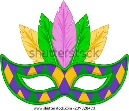 Mardi Gras mask design  - stock vector