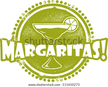 Margarita Cocktail Bar Stamp - stock vector
