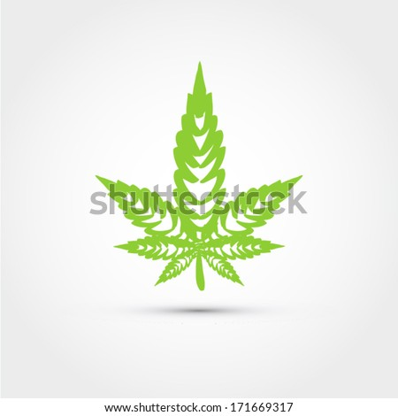 Marijuana leaf icon - stock vector