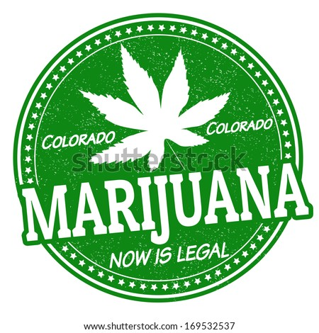Marijuana now is legal, Colorado grunge rubber stamp, vector illustration - stock vector
