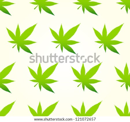 Marijuana Pattern - stock vector