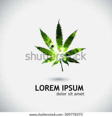 marijuana. Vector - stock vector