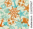 Marine seamless pattern. Vector illustration (eps10). - stock vector