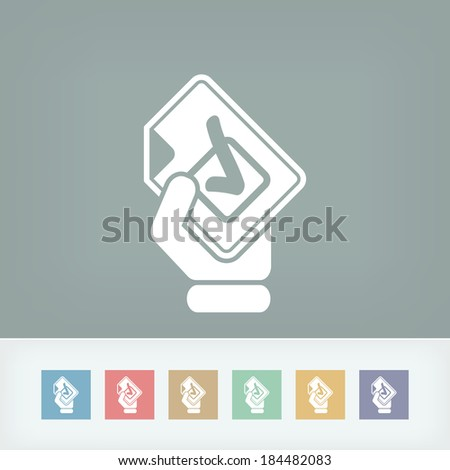 Mark choice icon - stock vector