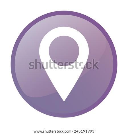 Mark icon, pointer. vector illustration - stock vector