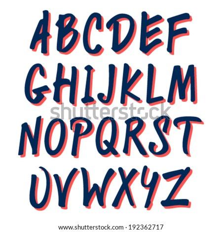Marker Font - stock vector