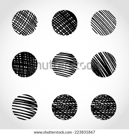 Marker hand drawn circles. Vector illustration  - stock vector