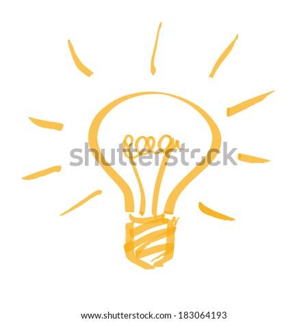 marker light bulb - stock vector