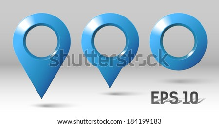 marker, position marking  - stock vector