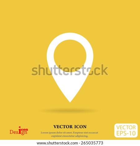 marker vector icon - stock vector