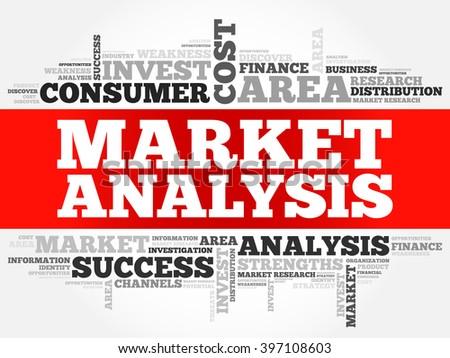 Market Analysis business concept word cloud - stock vector