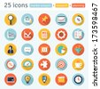 MARKET ANALYSIS.  flat app icons for web & mobile. Set 1 of  8  - stock vector