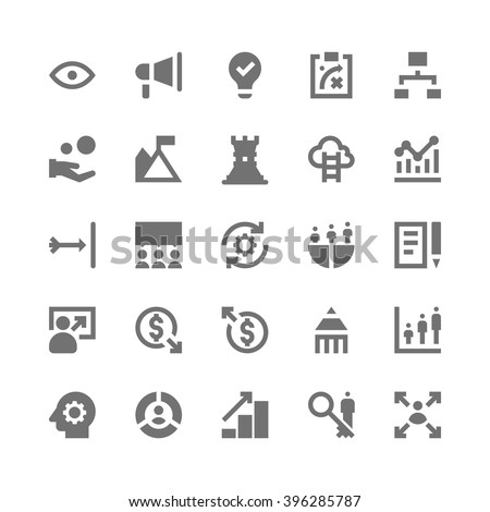 Market and Economics Icons 1 - stock vector