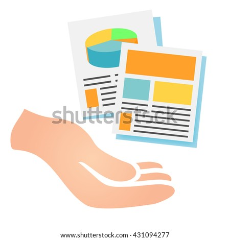 Marketing Company Digital Products Icons with Collateral and Packing Boxes - stock vector