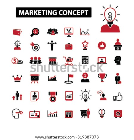 marketing concept icons - stock vector