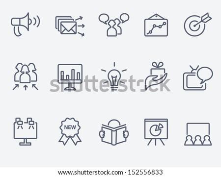Marketing icon set - stock vector