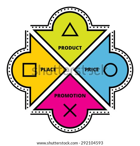 marketing mix. Business concept vector illustration. - stock vector