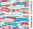 Marketing. Seamless vector background. - stock vector