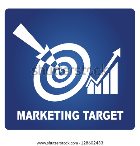 marketing target sign, marketing strategy - stock vector