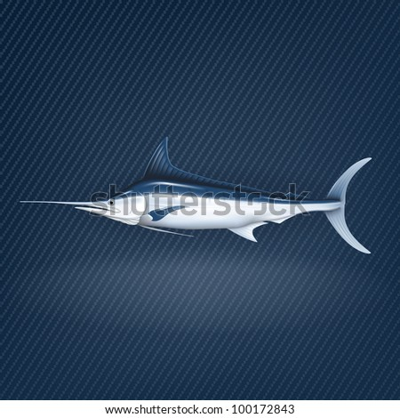 Marlin - stock vector