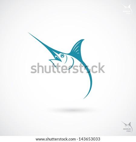 Marlin fish sign - vector illustration - stock vector