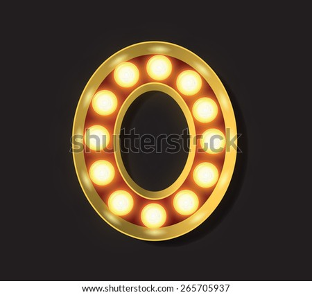 Marquee Light Letter - Vector - 0 - stock vector
