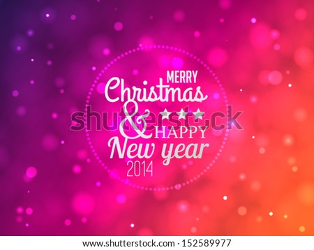 Marry Christmas And Happy New Year vector background - stock vector