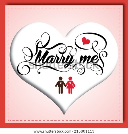 marry me ;) - stock vector