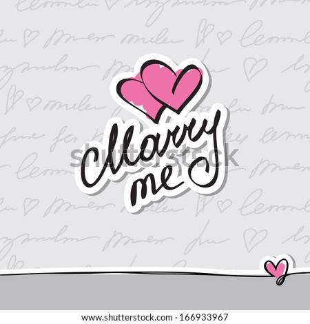 marry me, vector handwritten text - stock vector