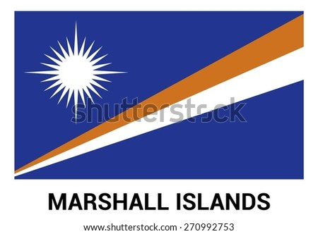Marshall Islands Flag isolated vector in official colors and Proportion Correctly - stock vector