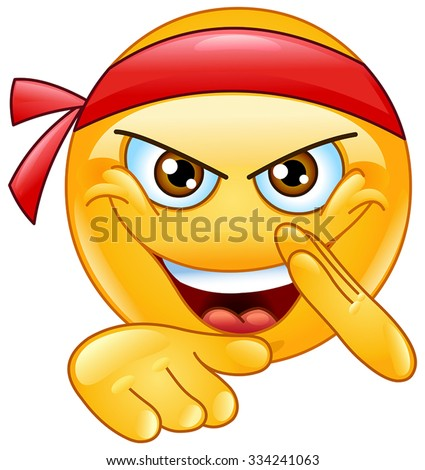 Martial art emoticon - stock vector