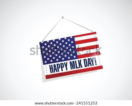 martin luther king day us hanging flag illustration design over a white background - stock vector