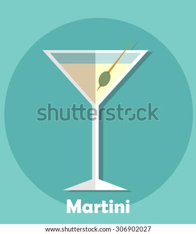Martini glass icon. Vector illustration - stock vector