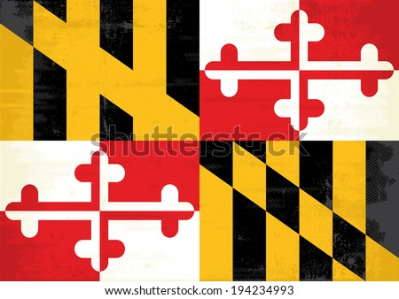 Maryland grunge flag. A grunge flag of Maryland for you - stock vector