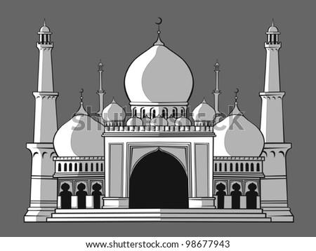 Masjid - stock vector